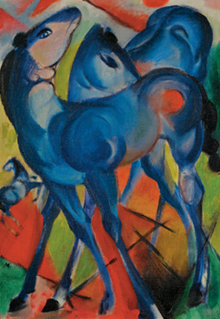 The Blue Foals, Franz Marc, 1913
